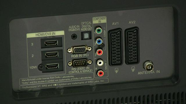 lg tv component input. there\u0027s also a vga pc input, usb an rs-232c port for controlling the tv in automated home theatre setup, and of course, rf input lg tv component